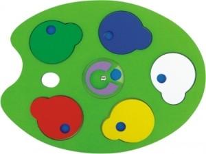 Brinquedo Paleta de Cores em Madeira - New Art Toys
