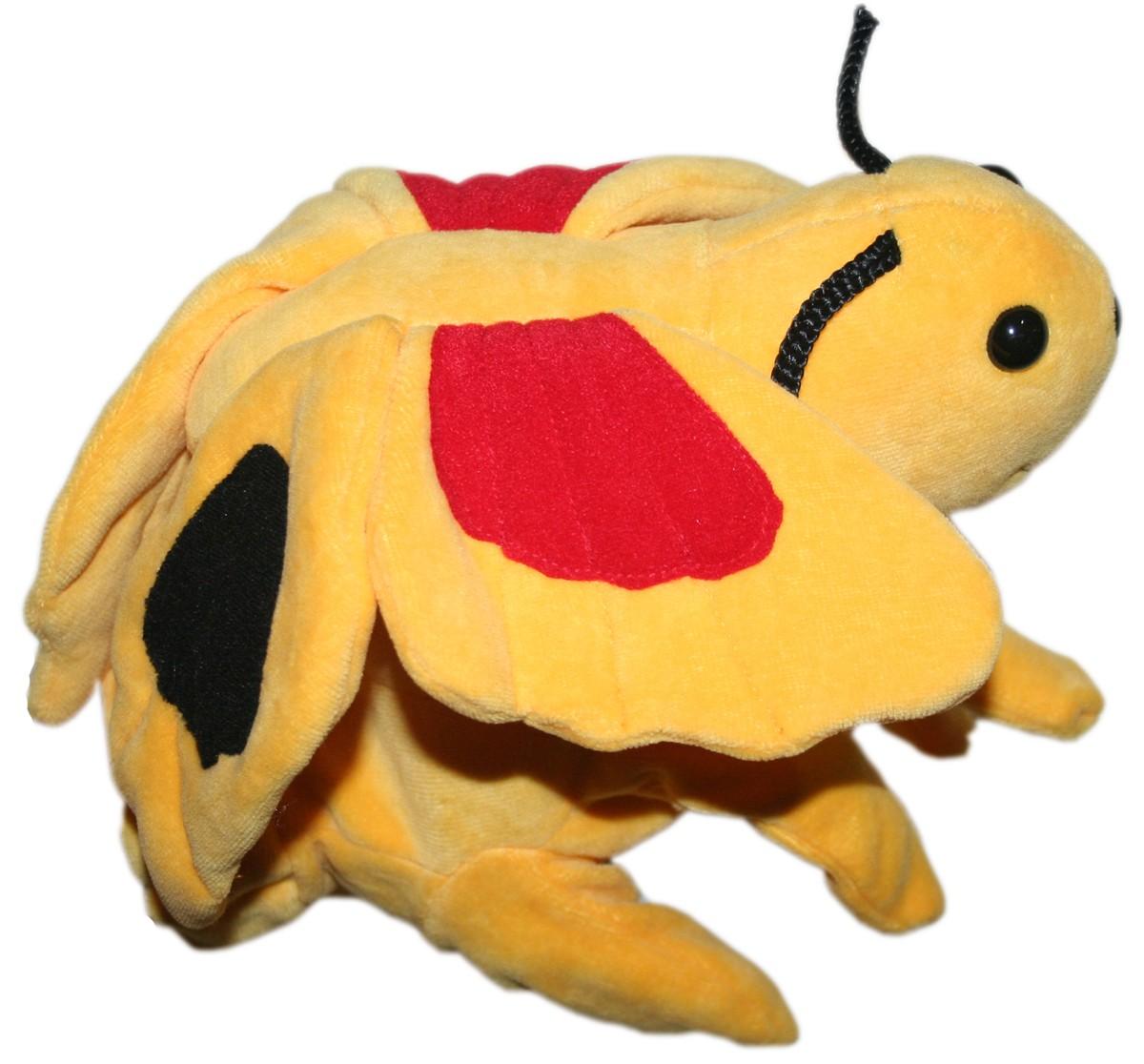 Luva Fantoche Borboleta - CAS brinquedos - Bichos de pano