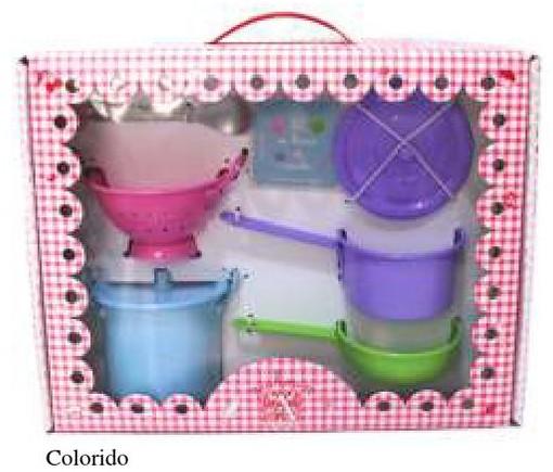 Caixa Malinha Eu Brinco de Cozinhar - Colorido - A de Aurélia
