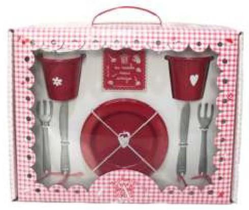 Caixa Malinha na Mesa - Vermelho - A de Aurélia