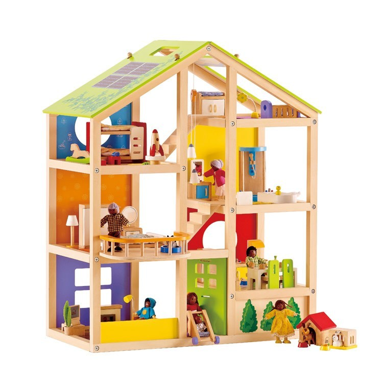 Casa de Boneca 4 Estações em madeira, All-Season Doll House - Hape