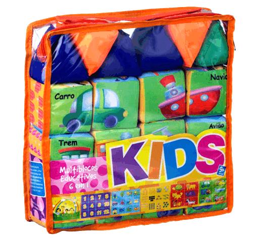 Multiblocos Educativos Kids 6 em 1 - Espuma - Bate Bumbo