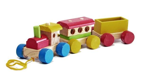 Trenzinho de Madeira - Pequeno - Wood Toys