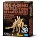 Dinossauros - Kit de Escavação - Esqueleto Estegossauro - 4M