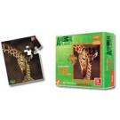 Quebra cabeça mini colecionável Animal Planet em madeira - girafa - brincadeira de criança