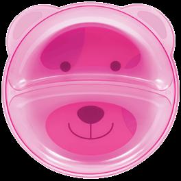 Prato Ursinho Com Divisoria Rosa 5812 Buba