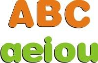 Alfabetizando - Letras, Alfabeto em Madeira - 31 Peças