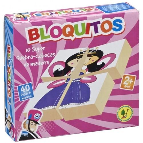 Bloquitos Quebra Cabeça Princesa - Bate Bumbo