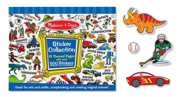 Caderno de Atividades Azul, Adesivos Colecionador - Melissa & Doug