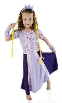 Camisola Princesa Lilás com Trança Rapunzel 6 anos - Lé com Cré