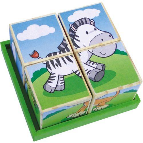 Coleção Cubos Quebra Cabeça - Animais da Terra - New Art Toys