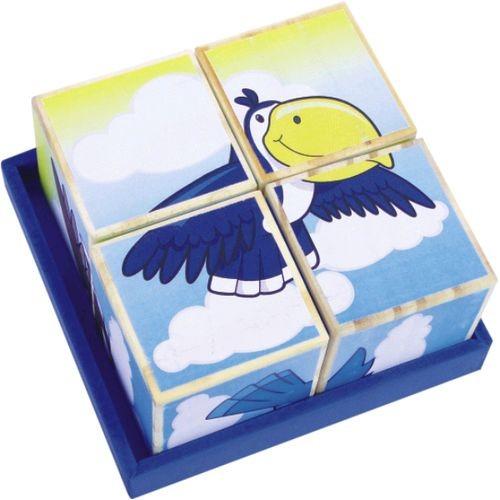Coleção Cubos Quebra Cabeça - Animais do Ar - New Art Toys