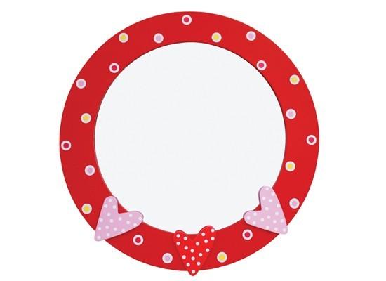 Espelho Corações Vermelho, Moldura em Madeira - Jabadabado