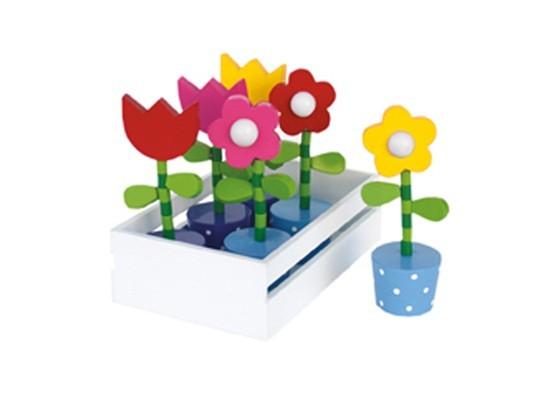 Jogo de Flores de Madeira Bandeja Cada - Jabadabado