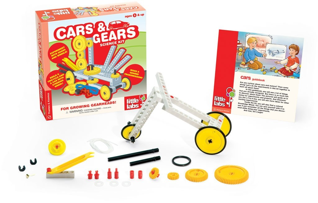 Kit Científico Educacional Carros e Engrenagens - Little Labs - Funtoys - Thames & Kosmos