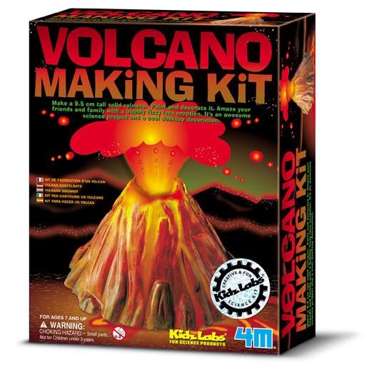 Kit Construa seu Vulcão - Brinquedo Educativo - Kidz Labs - 4M