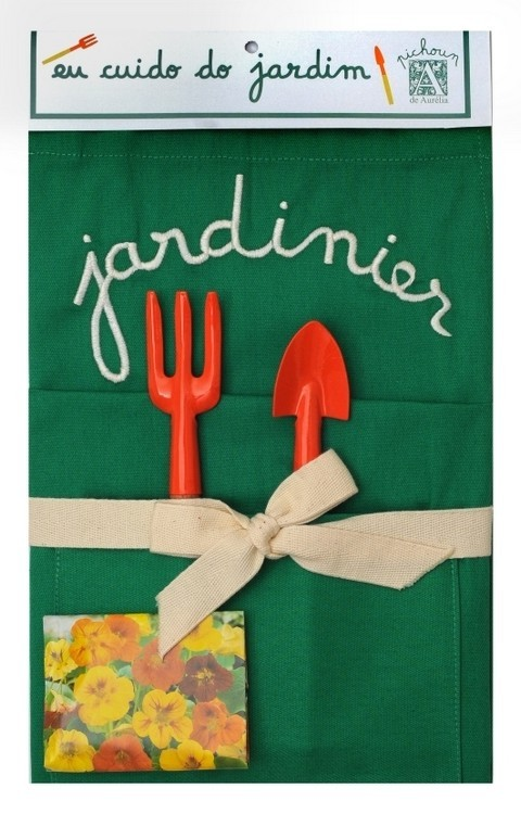 Kit Jardinier, Jardineiro - Avental Bordado - P - A de Aurélia