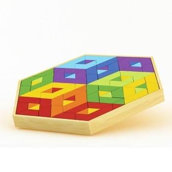 Quebra-Cabeça Mosaico, Mosaic Puzzle - Hape