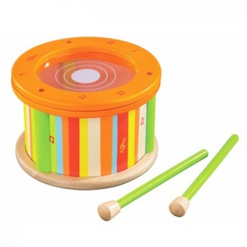 Tambor Primeiras Melodias - Early Melodies Wooden Drum - Educo