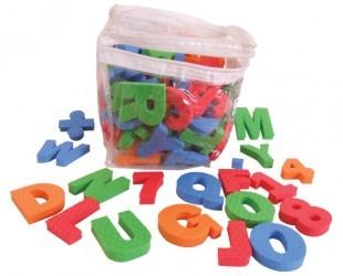 Alfabeto Números e Simbolos Magnético - 94 peças - Simque