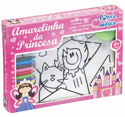 Amarelinha Princesa Pintura Mágica - Bate Bumbo