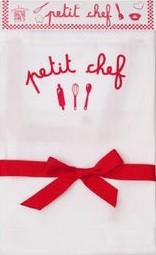 Avental Petit Chef Estampado - P - Branco e Vermelho - A de Aurélia