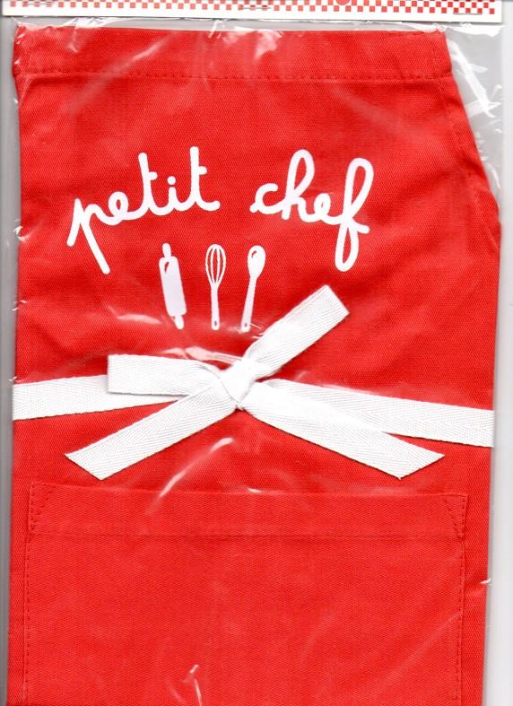 Avental Petit Chef Estampado - M - Vermelho - A de Aurélia