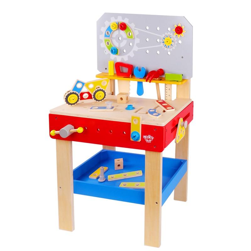 Bancada de Carpinteiro Infantil - Brinquedo de madeira - Tooky Toy