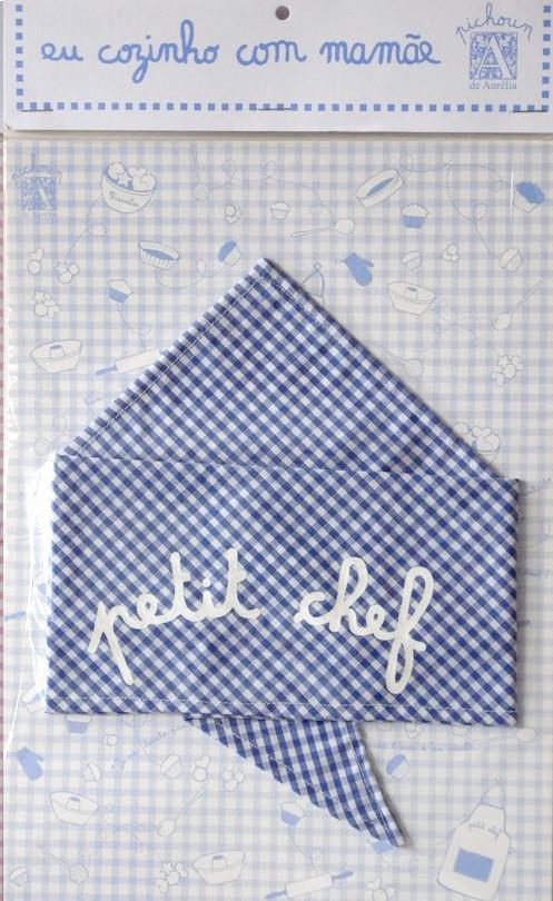 Bandana Petit Chef - Azul - A de Aurélia