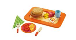 Bandeja de hamburguer - Brinquedo em madeira - Sevi