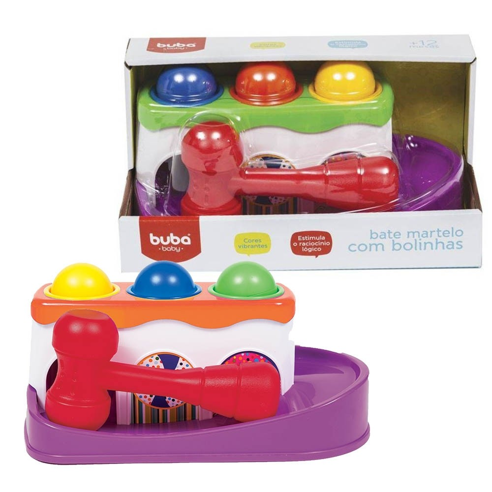 Bate Martelo com Bolinhas Brinquedo para Bebê - Buba