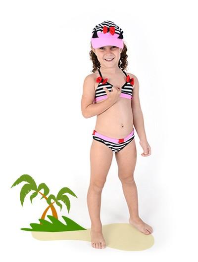 Biquíni Gata Mimi com Viseira - Tamanho G, 6 anos - Lé com Cré