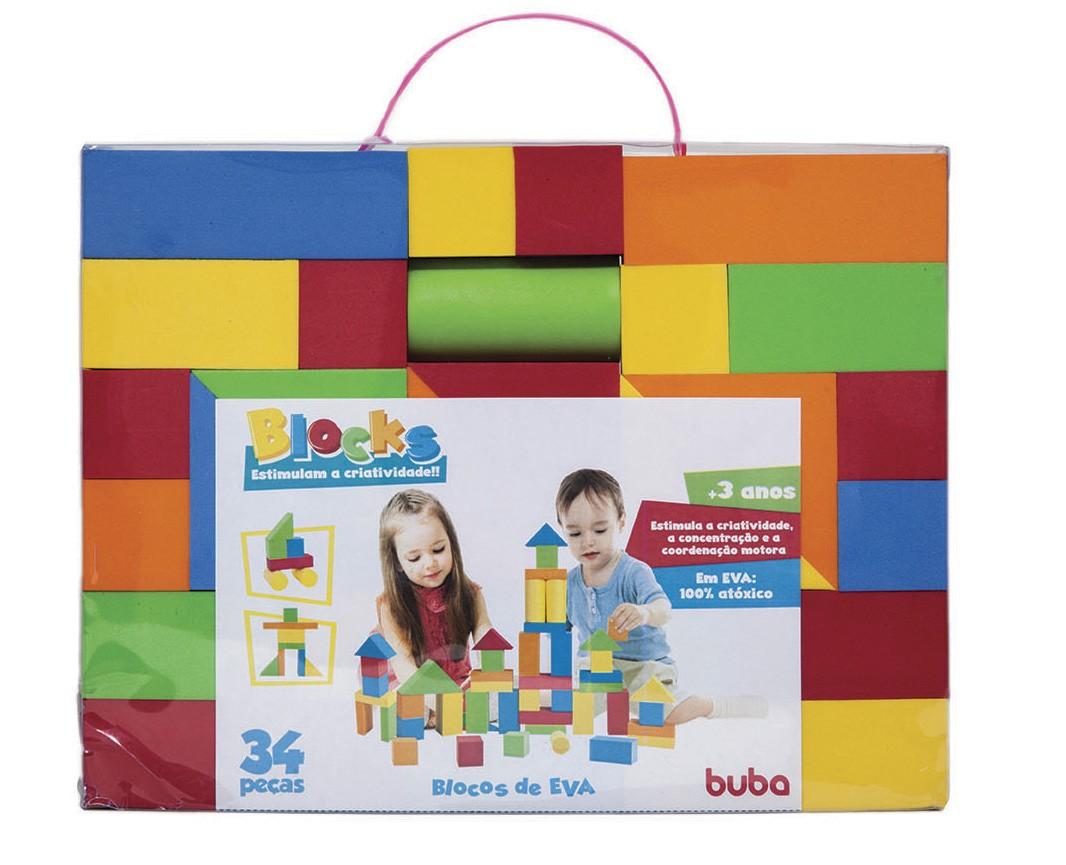 Blocks 34 peças - Blocos de Montar e Empilhar - Buba