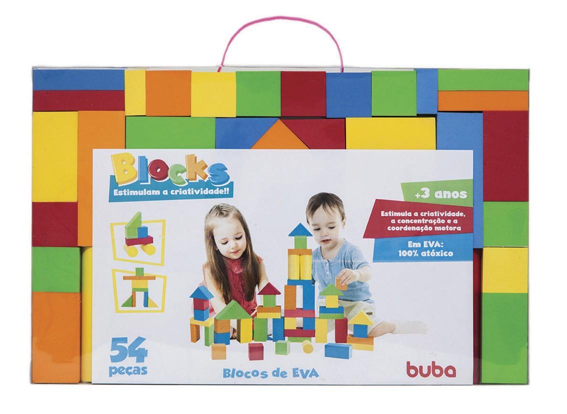 Blocks 54 peças - Blocos de Montar e Empilhar - Buba