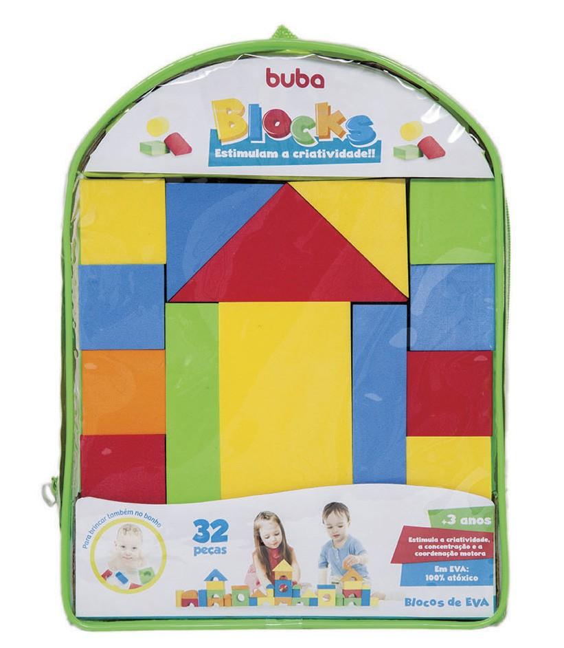 Blocks 32 peças - Blocos de Montar e Empilhar - Buba