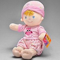 Boneca de pano - Baby Twins - Rosa - Buba
