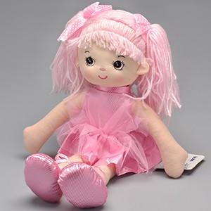 Boneca de pano - Bailarina Glitter - Rosa - Buba