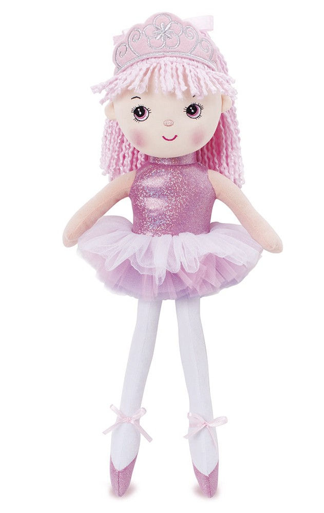 Boneca de pano - Princesa Bailarina - Rosa - Buba