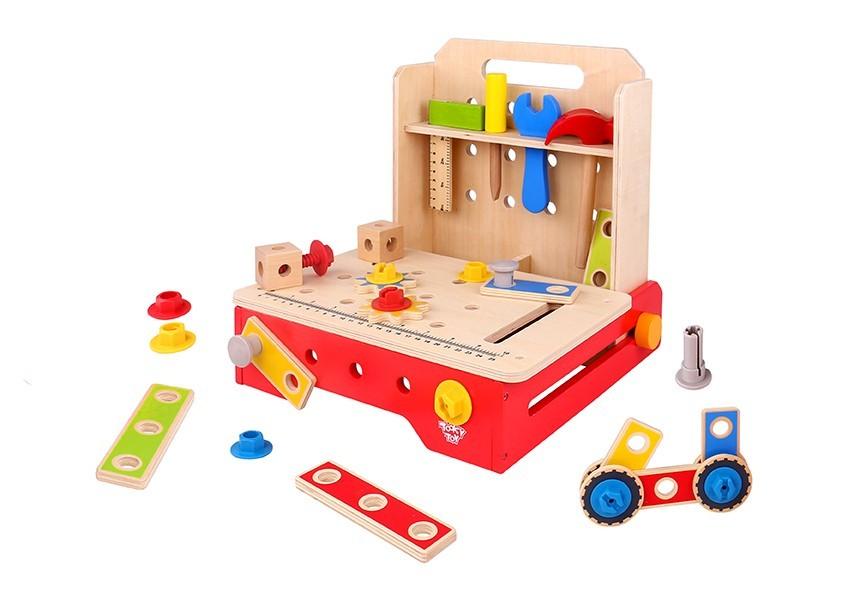 Brinquedo Bancada com Ferramentas de madeira - Tooky Toy
