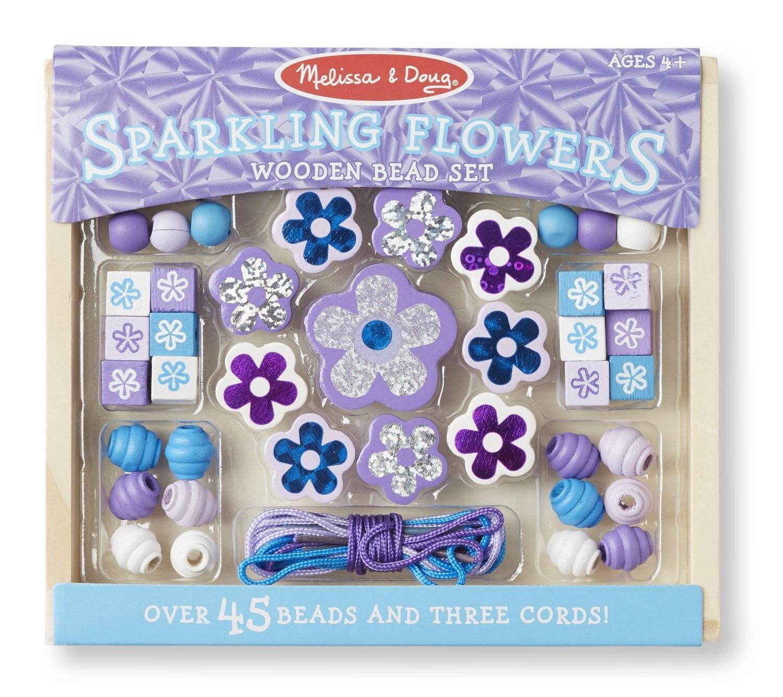 Brinquedo construindo Jóias - Flores Brilhantes de Madeira - Melissa & Doug