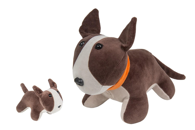 Cachorro Bull Terrier com filhote - Bichos gravidos - Bichos de pano