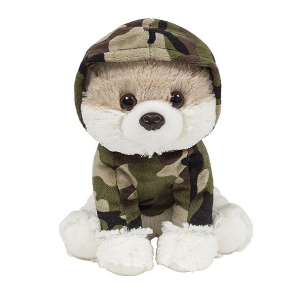 Cachorro Lulu da Pomerania com roupa de Militar - Lulu da Pomerania Militar - Buba