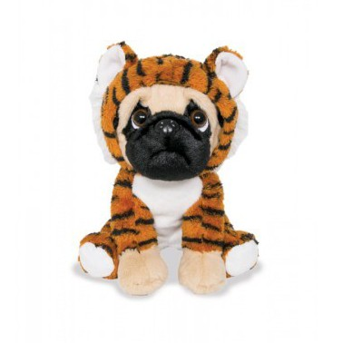 Cachorro Pug com roupa de Tigre - Pug Tigrinho - Buba