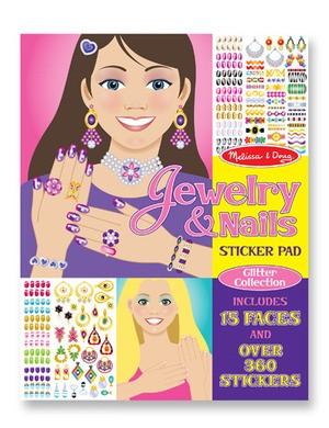 Caderno de Atividades - Jóias e Unhas -  Adesivos Colecionador - Melissa & Doug