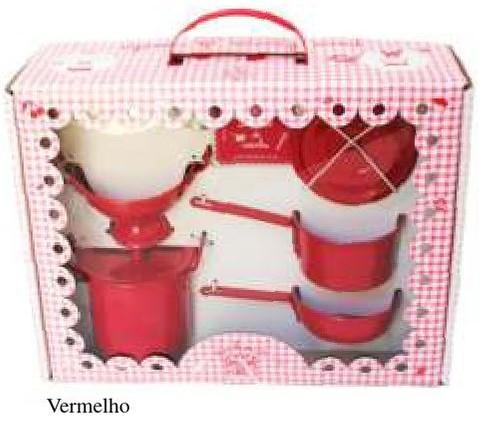 Caixa Malinha Eu Brinco de Cozinhar - Vermelho - A de Aurélia