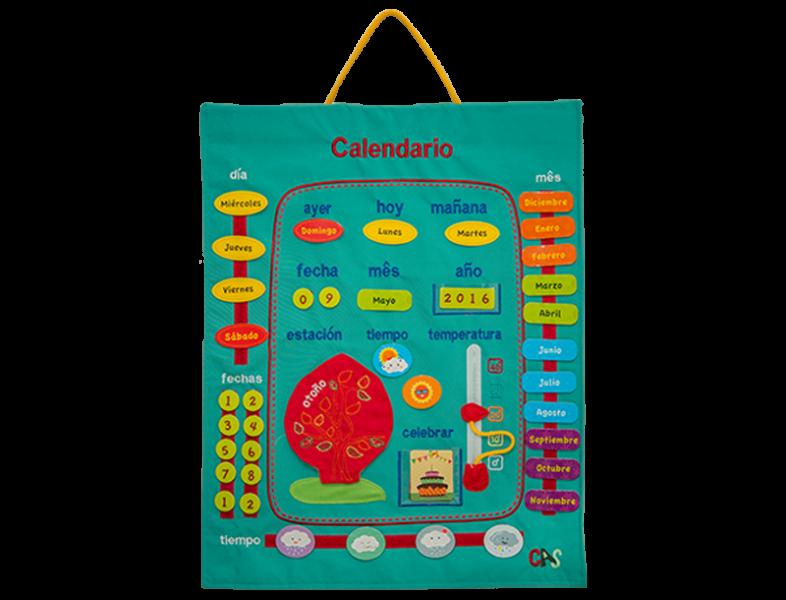 Calendário Gráfico em Espanhol - Bichos de pano