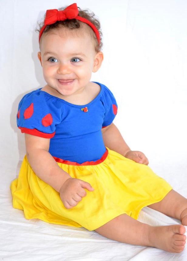 Camisola Baby Princesa Royal - Branca de Neve -  M - Lé com Cré
