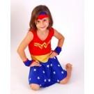 Camisola Mulher Maravilha - Estrelinha Brilha no Escuro 10 anos - Lé com Cré