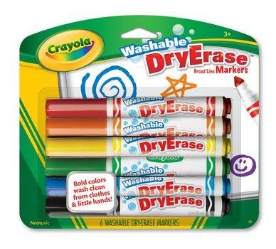 Canetinhas para Quadro Branco - Lavável - 6 Cores - Crayola