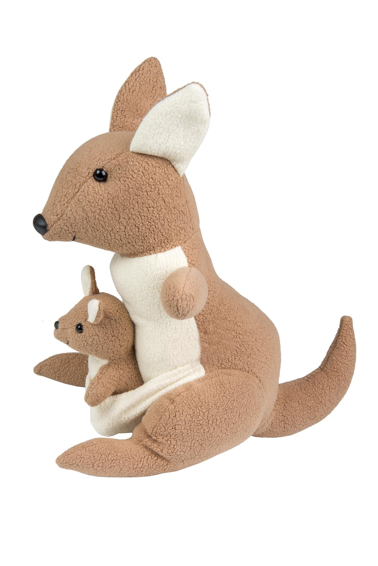 Canguru com filhote - Bichos de pano